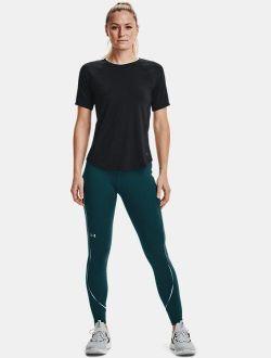 Women's UA RUSH™ No-Slip Waistband Scallop Full-Length Leggings
