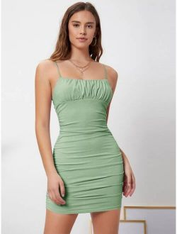 Ruched Bust Bodycon Dress