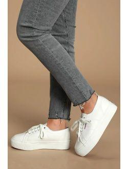 2790 NAPPALEAW White Nappa Leather Platform Sneakers
