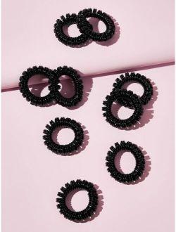 9pcs Coil Wire Hair Tie