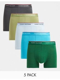 5 pack trunks with logo waistband in multi