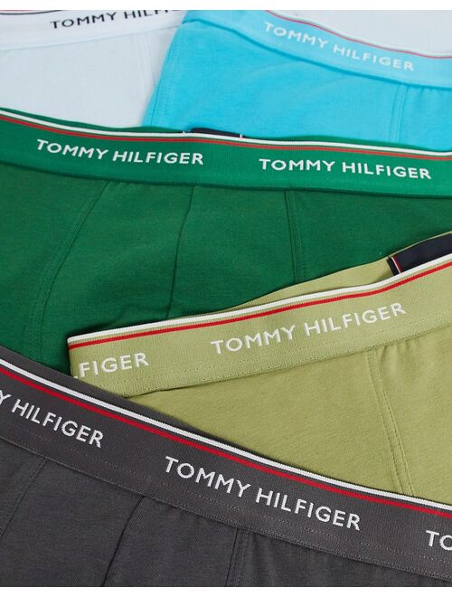 Tommy Hilfiger 5 pack trunks with logo waistband in multi