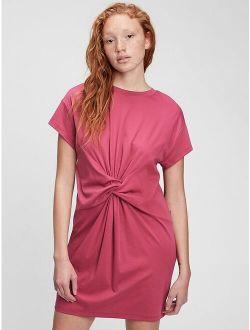 Knot-Waist Short Sleeve Dress