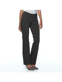 S Apt. 9® Torie Midrise Modern Fit Straight-leg Dress Pants