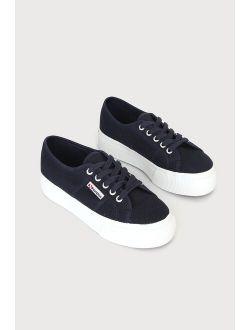 2790 ACOTW Navy Blue Platform Sneakers