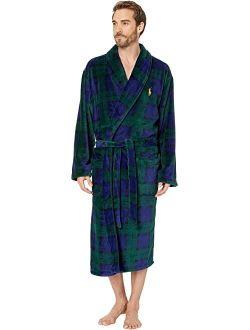 Microfiber Plush Long Sleeve Shawl Collar Robe