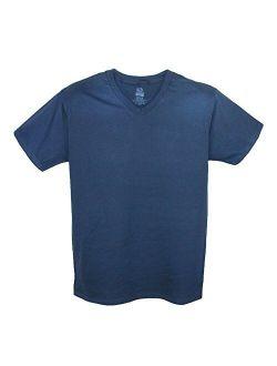 Men's V Neck Cotton T Shirt