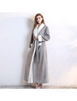 Sexy Wram Sleepwear Thicken Nightgown winter Long Home Dress