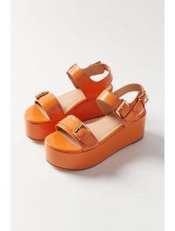 Uo Violet Buckled Flatform Sandal