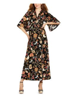 Jessica Simpson Kimono-Sleeve Maxi Maternity Dress