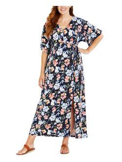 Kimono-Sleeve Maxi Maternity Dress