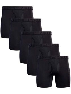 Men's Underwear - Performance Compression Boxer Briefs With Functional Fly (4 Or 5 Pack)