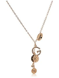 95364-21 Cubic Zicrona With Letter Pendant And Round Shape Pendant Necklece
