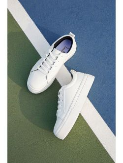 Kenley White Platform Lace Up Sneakers