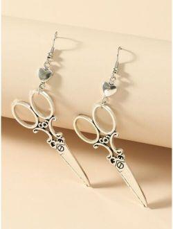 Scissor Charm Drop Earrings