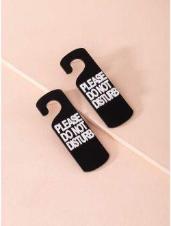 Letter Design Stud Earrings