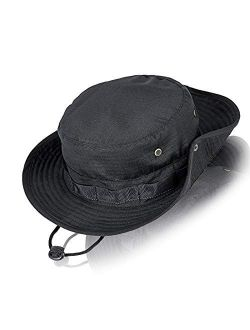 Fishing Hat Wide Brim Boonie Hat Sun Protection Cap Breathable Safari Hat for Man Woman