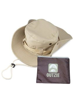 Wide Brim Packable Booney Sun Hat |Lightweight Cotton |Fishing Gardening