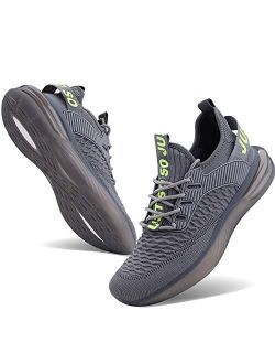 JointlyCreating Mens Non Slip Running Shoes Lightweight Breathable Mesh Sneakers Athletic Gym Sports Walking Shoes