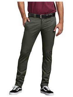 Men's Skinny-straight Double Knee Work Pant