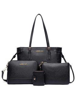 Handbags for Women Shoulder Bags Tote Satchel Hobo 4pcs Purse Set
