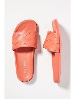 Silent D Woven Slide Sandals