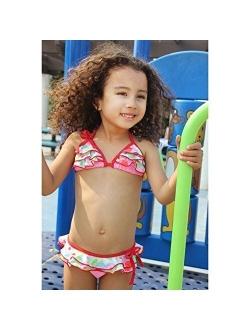 Sweet Jane Ruffle Triangle Bikini Swimsuit