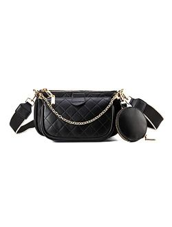 Small Rhombic Crossbody Bags for including 3 Size Bag Women Multipurpose Golden Zippy Handbags with Coin Purse