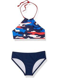 Mahina Beach Sport Halter Bikini Two-Piece Swimsuit (Toddler)