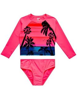Girls' Rash Guard Set - Upf 50+ Swim Shirt And Bikini Bottoms Swim Suit Set (toddler/little Girl/big Girl)