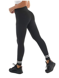 Blooming Jelly Womens High Waist Workout Leggings Compression Yoga Pants Tummy Control Running Gym Active Tights