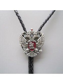 Original Russian Double Headed Empire Eagle Rhinestone Bolo Tie