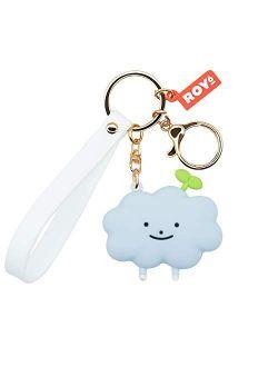 MEIPEL Cartoon Anime Keychain with Cute Animal Key Ring for Car Key Bag Accessories Purse Decoration for Girls Women