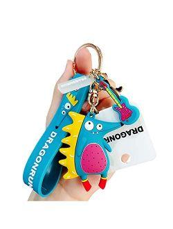 Cute Keychain Accessories with Cartoon Animal MONDOME Cute Key Charms for Children, Teens, Women (1 Pack)