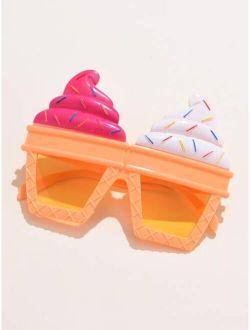 Ice Cream Shaped Frame Sunglasses