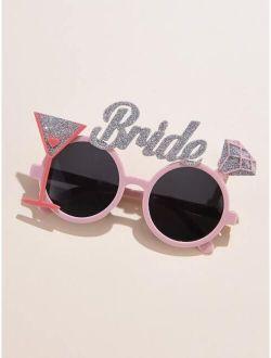 Creative Letter Decor Sunglasses