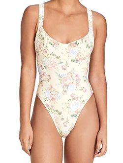 WeWoreWhat Women's Ruched Cup One Piece
