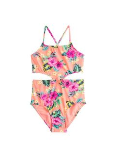 Girls 7-16 SO® Side Cutout One-Piece Swimsuit