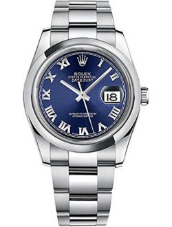 Datejust 36 116200 Blue Roman Numeral Dial Oyster Men's Watch