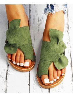 YASIRUN Green Ring Toe Twist-Accent Sandal - Women