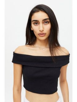 UO Mikie Off-The-Shoulder Cropped Top