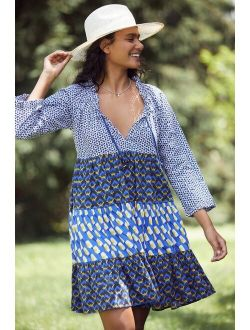Ro's Garden Tiered Cover-Up Tunic Dress