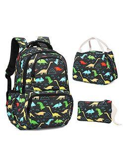 SKL Cute Dinosaur and Unicorn Backpack for Girls boy ,School backpack Set Lightweight Travel Daypack for Kids Girls Teenage