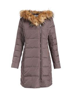 | Carbon Faux Fur-trim Hooded Puffer Jacket - Women