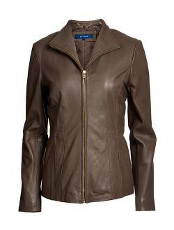   Stone Leather Jacket - Women