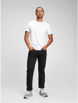 Straight Mid Rise Jeans With Washwell™