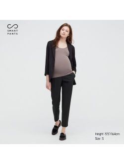 WOMEN MATERNITY SMART 2-WAY STRETCH SOLID ANKLE-LENGTH PANTS (ONLINE EXCLUSIVE)