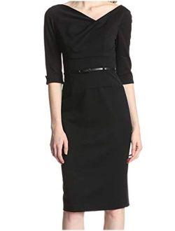 Women's 3/4 Sleeve Jackie O Dress