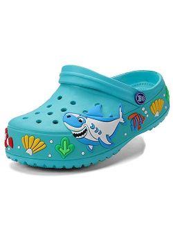 CERYTHRINA Little Kids Clogs Girls Boys Slide Lightweight Garden Shoes Slip-on Beach Pool Shower Slippers