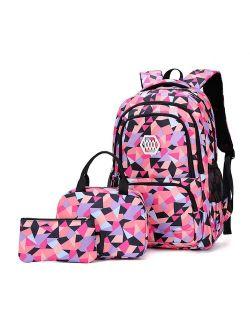 Children School bags set Girls Primary Backpack Kids school backpcak 3 pcs princess schoolbags kids mochilas escolar infantil